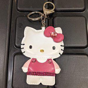 Hello Kitty Swarovski and Leather Key/Bag Charm